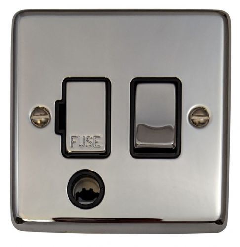 G&H CC356 Standard Plate Polished Chrome 1 Gang Fused Spur 13A Switched & Flex Outlet